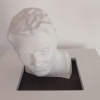 plaster busts, sanding machine.