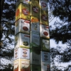 foodstuff cans.